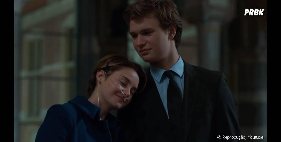 """""""A Culpa é das Estrelas"""" conta a história de Hazel (Shailene Woodley) e Augustus (Ansel Elgort)"""