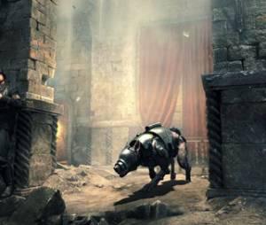 """Com uma narrativa cyberpunk, """"Wolfenstein: The New Order"""" mostra um mundo destruído mas envolvido em tecnologia de ponta"""