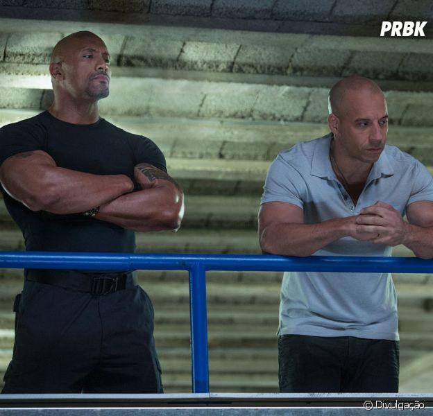 """Dwayne Johnson e Vin Diesel estão no elenco de """"Velozes & Furiosos 8"""""""