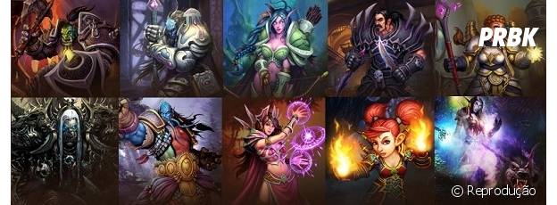 "As classes de ""World Of Warcraft"""