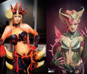 """League Of Legends"": Cosplay ZyraFogo Silvestre e Zyra Tradicional"