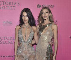 Irmãs Gigi Hadid e Bella Hadid no Victoria's Secret Fashion Show 2016: gatas chamam atenção no evento