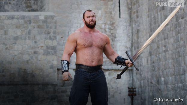 """Em """"Game of Thrones"""", Montanha (Hafthor Julius Bjornsson) é o lutador dos Lannister"""