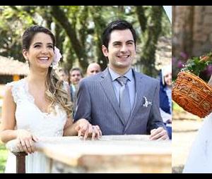 """Beatriz (Ana Vitória Bastos) e Ricardo (Rodolfo Valente) se casam em """"Carinha de Anjo"""", do SBT"""