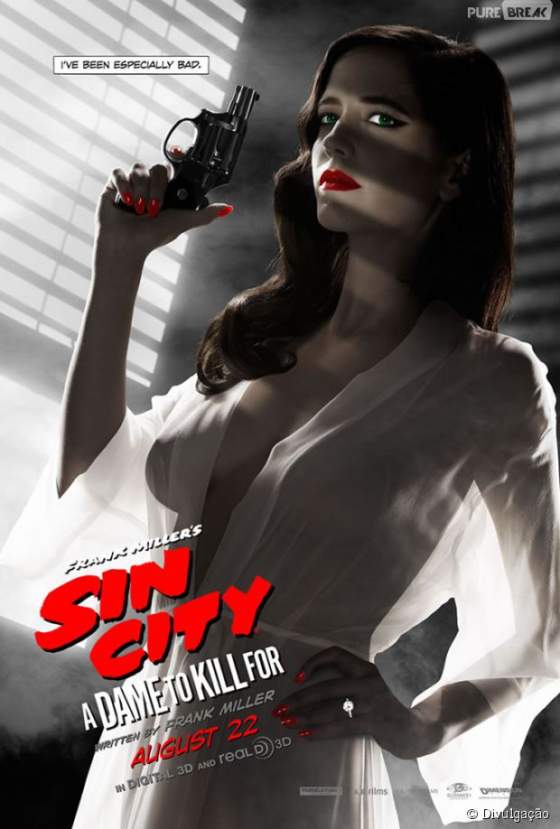 "Eva Green estampa cartaz de ""Sin City 2 - A Dama Fatal"""