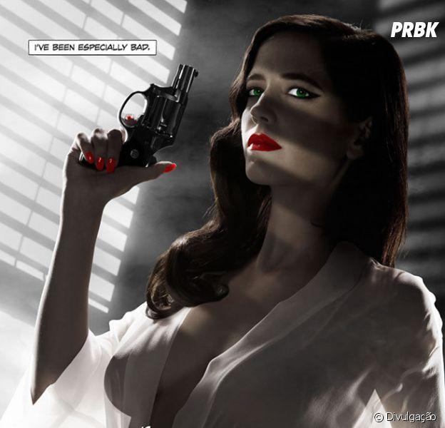 "Eva Green estampa cartaz de ""Sin City 2 - A Dama Fatal"""