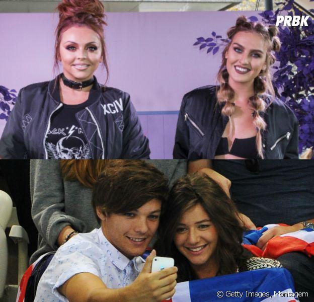 Do Little Mix, Perrie Edwards e Jesy Nelson saem em defesa de Louis Tomlinson, do One Direction, e de sua namorada Eleanor após briga com paparazzi