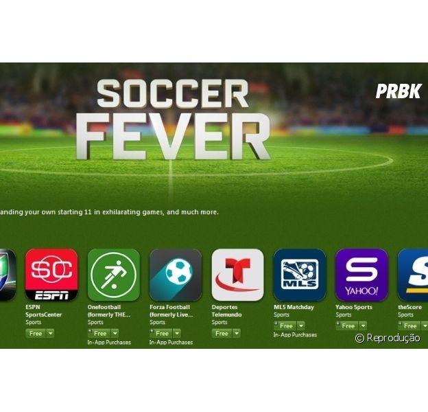 """A App Store ganhou uma seção especial pra copa chamada """"Soccer Fever"""""""
