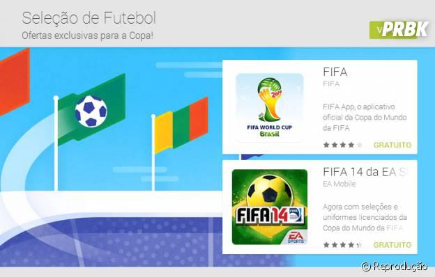 """""""Seleção Futebol"""" especial para Copa do Mundo na Google Play"""