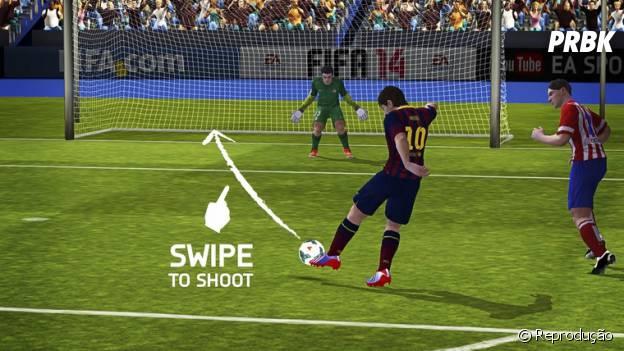 """""""FIFA 14 da EA SPORTS"""" é um jogo com tema da Copa do Mundo 2014 que tem controles intuitivos"""
