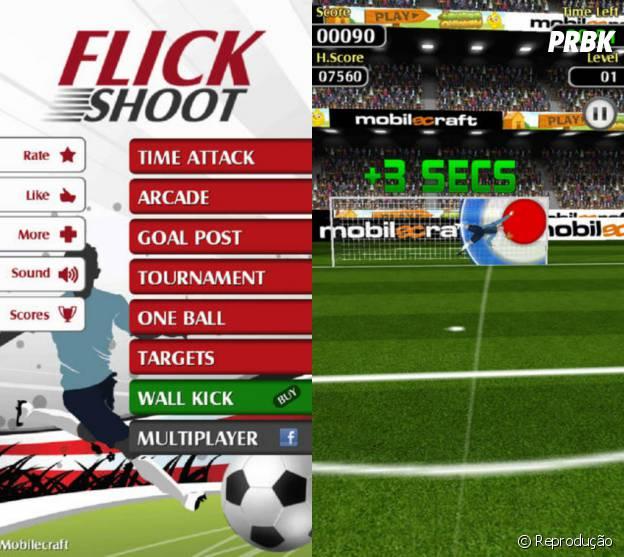 """Bata penaltis em """"Flick Shoot"""""""