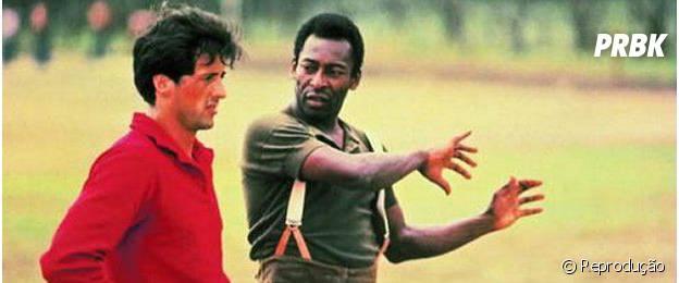 """Ao lado de Stallone, Pelé estrela """"Fuga para vitória"""""""