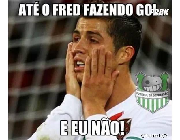 Até o Fred faz gol...
