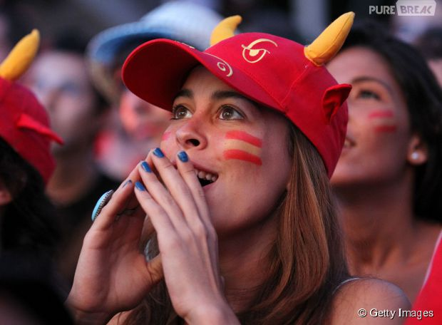 E a torcida da Espanha é uma das mais bonitas da Copa!
