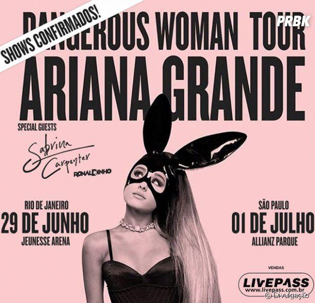 Ariana Grande tem shows no Brasil confirmados!