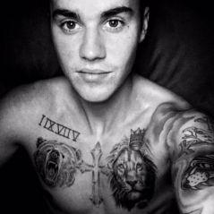 """Justin Bieber faz nova tatuagem! Cantor escreveu """"better at 70"""" na perna e explicou o significado"""