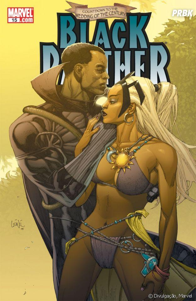 Pantera Negra e Tempestade nos quadrinhos