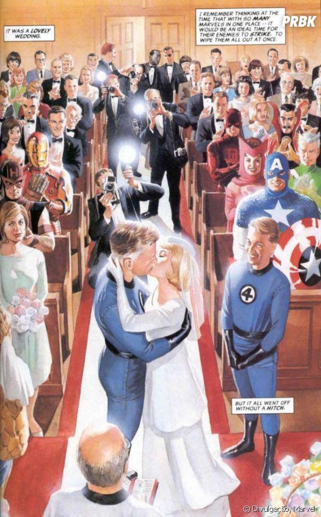 Senhor Fantástico e Mulher Invisível se casaram nos quadrinhos dos anos 60