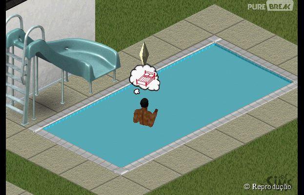 Piscinas existem desde a primeira vers o do jogo the sims for Piscina sims 4