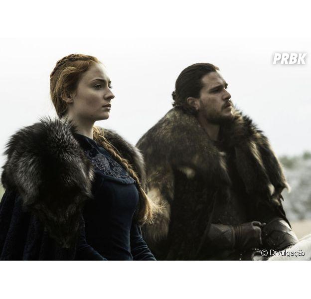 "Em ""Game of Thrones"", Sansa (Sophie Turner) e Jon Snow (Kit Harington) disputam pelo poder!"