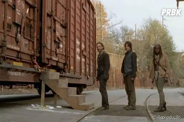 """Será que Tyreese (Chad Coleman) e Carol (Melissa McBride) salvarão Rick (Andrew Lincoln), Daryl (Norman Reedus) e Michonne (Danai Gurira) em """"The Walking Dead""""?"""