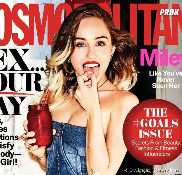 Miley Cyrus é capa da próxima edição da revista Cosmopolitan!