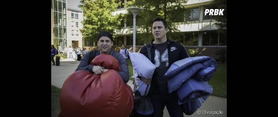 """Em """"Anjos da Lei 2"""", a dupla de policias vivida por Jonah Hill e Channing Tatum agora se infiltra em uma faculdade"""