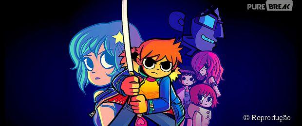 """""""Scott Pilgrim Contra o Mundo"""" é uma história em quadrinho que exibe bastante da cultura pop indie como os animes japoneses e rock'n'roll"""