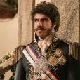"""Dom Pedro (Caio Castro) encontrará suas duas mulheres discutindo e expulsará a amante da sala em """"Novo Mundo"""""""