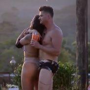 """Em """"A Fazenda"""", Marcos e Monique dão beijo e fãs reclamam do casal: """"Coragem"""""""