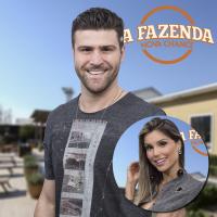 """""""A Fazenda"""": Marcelo ganha """"eu te amo"""" de Flávia e conhece família da namorada no """"Hoje em Dia""""!"""