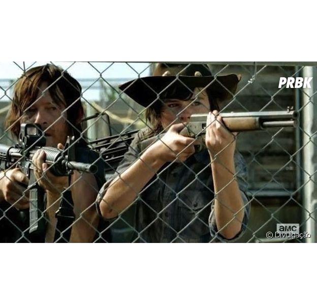"Em ""The Walking Dead"", Norman Reedus critica morte de Carl (Chandler Riggs)"