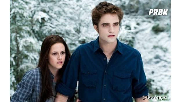 """Robert Pattinson e Kristen Stewart na """"Saga Crepúsculo"""""""
