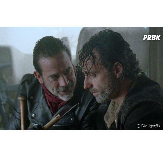 """Em """"The Walking Dead"""", Rick (Andrew Lincoln) pretende se vingar de Negan (Jeffrey Dean Morgan)!"""