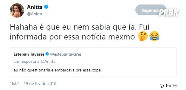 Anitta desmente participação na Copa do Mundo