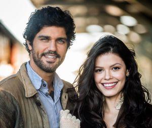 """Novela """"Tempo de Amar"""": Inácio (Bruno Cabrerizo) pede nova chance para Maria Vitória (Vitória Strada), mas é rejeitado"""