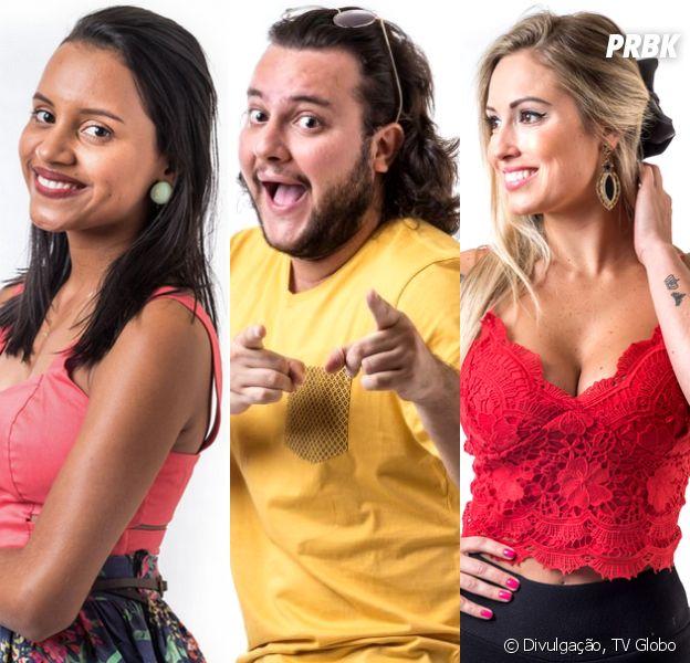 """No """"BBB18"""", oitavo Paredão é entre Gleici, Diego e Jéssica! Quem deve ser eliminado?"""