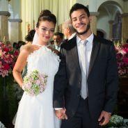 """Novela """"O Outro Lado do Paraíso"""": Diego (Arthur Aguiar) e Melissa transam após casamento!"""