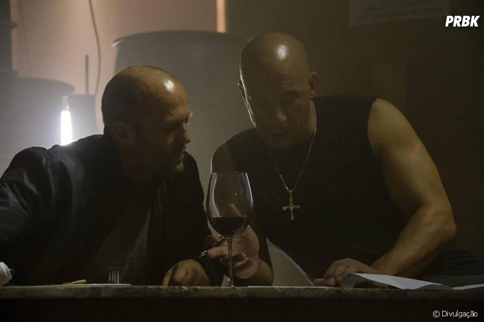 "Jason Statham e Vin Diesel ensaiam falas de""Velozes e Furiosos 7"""