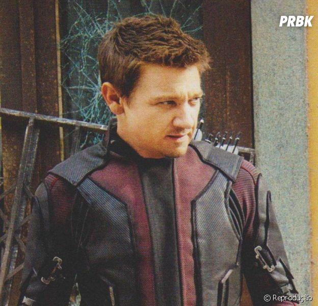 """Jeremy Renner no set de """"Os Vingadores 2"""""""