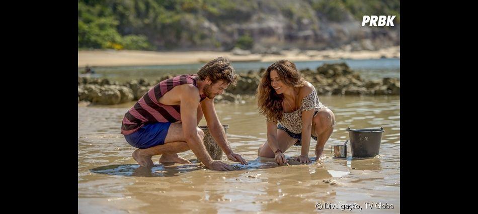 Em Segundo Sol, personagens de Giovanna Antonelli e Emílio Dantas vivem romance
