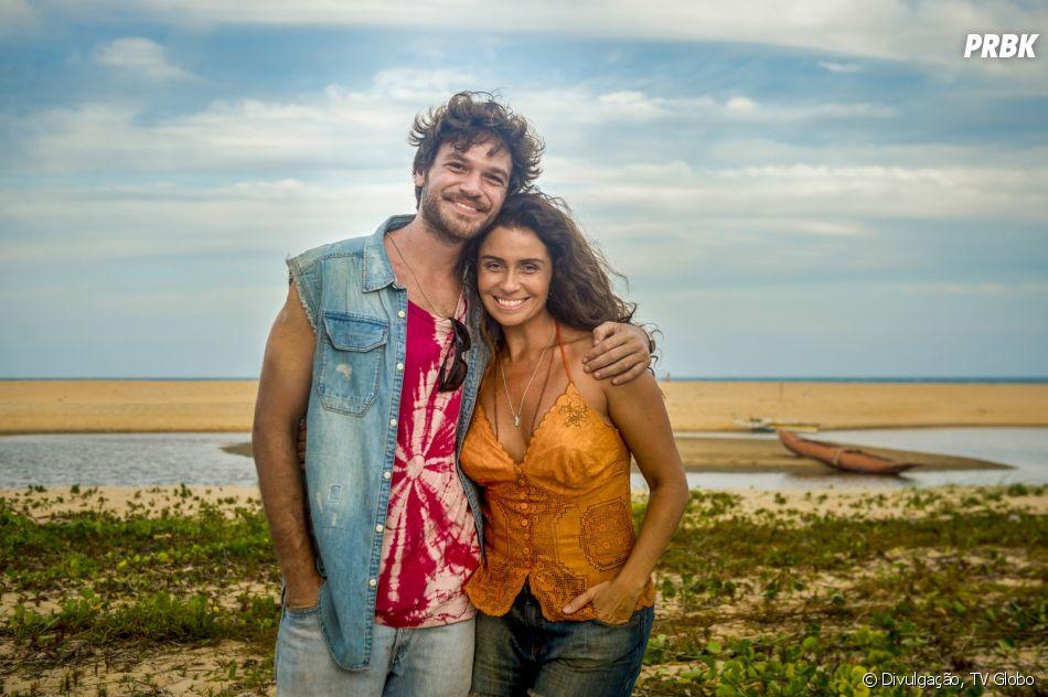 """Em """"Segundo Sol"""", Luzia (Giovanna Antonelli) e Beto (Emílio Dantas), apesar do forte romance, irão se separar"""