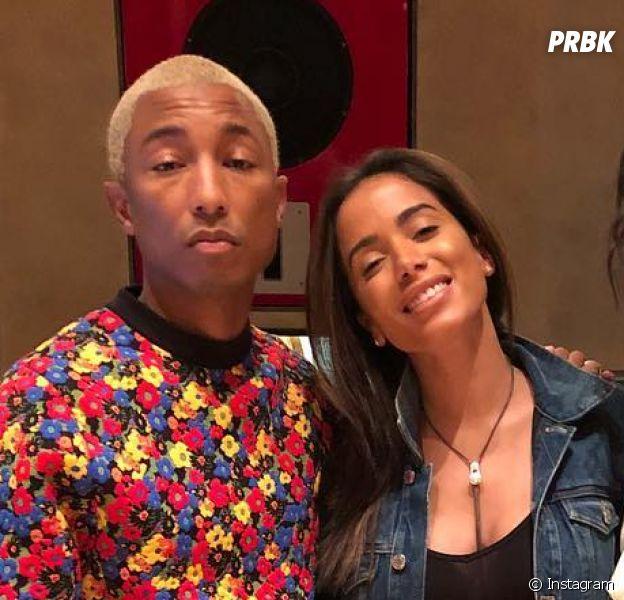 Anitta posa em estúdio com famoso produtor Pharrell Williams e a rapper Bia