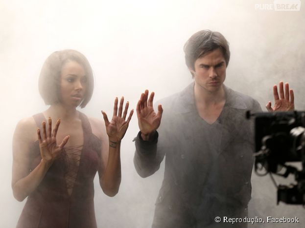 "Em ""The Vampire Diaries"", Damon (Ian Somerhalder) e Bonnie (Kat Graham) posam presos no Otherside!"