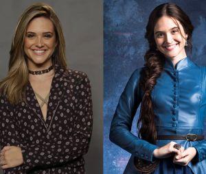 """Veja o antes e depois de Juliana Paiva, para viver a personagem Marocas, de """"O Tempo Não Para"""", próxima novela da Globo"""