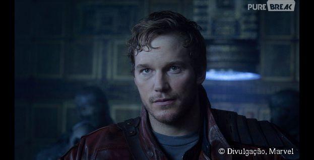 """Chris Pratt é o responsável por viver o único humano dos filmes de """"Guardiões da Galáxia"""""""