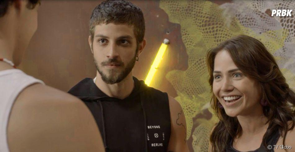"""Novela """"Segundo Sol"""": Ícaro (Chay Suede) é expulso do casarão depois de dar um soco em Valentim (Danilo Mesquita)"""