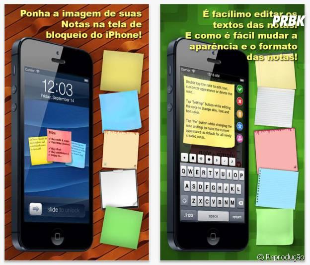 """""""abc Notes"""" permite que você coloque as notas na tela de desanso do celular"""