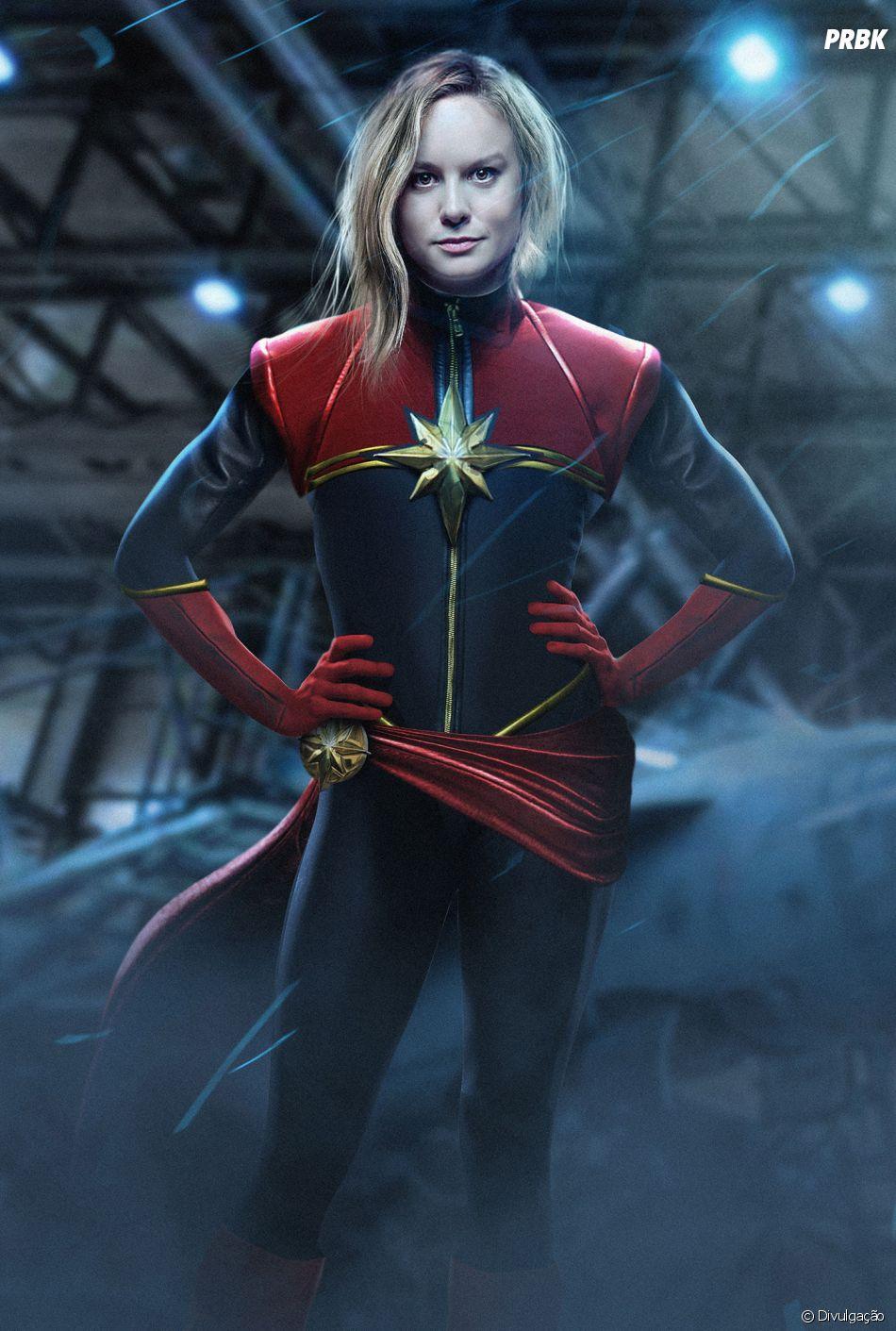 """Antes de """"Vingadores 4"""", Brie Larson fará sua estreia como a Capitã Marvel"""