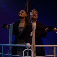 """Ariana Grande recria cenas de """"Titanic"""" cantando One Direction, Lady Gaga e mais"""
